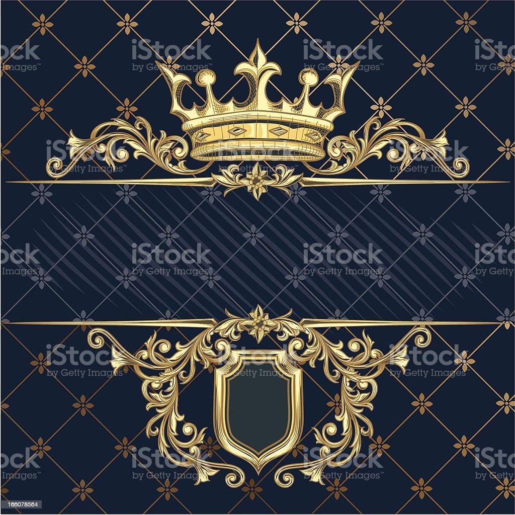 Golden crown royalty-free stock vector art