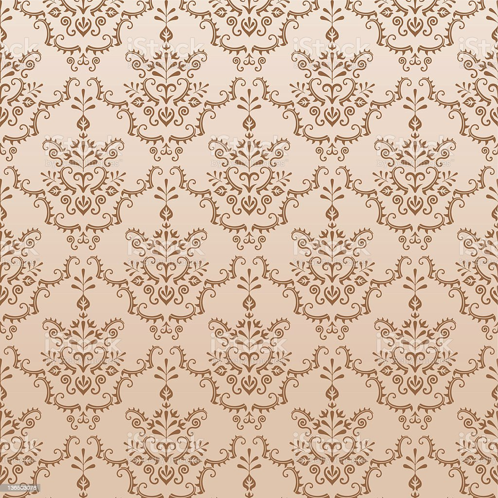 Golden Damask Pattern royalty-free stock vector art