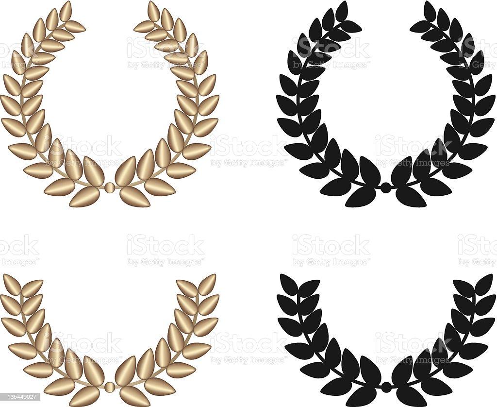 Golden Diadem royalty-free stock vector art