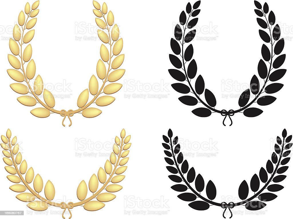 Golden Diadems vector art illustration