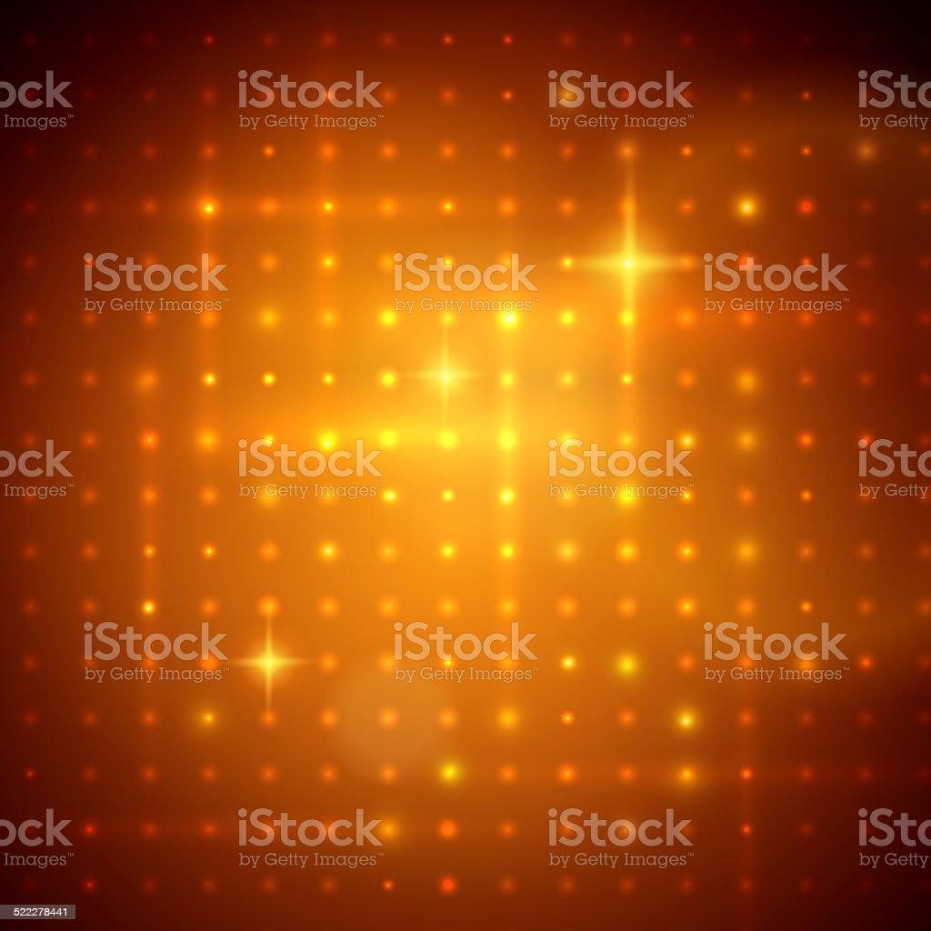 Golden disco lights. Vector illustration. vector art illustration