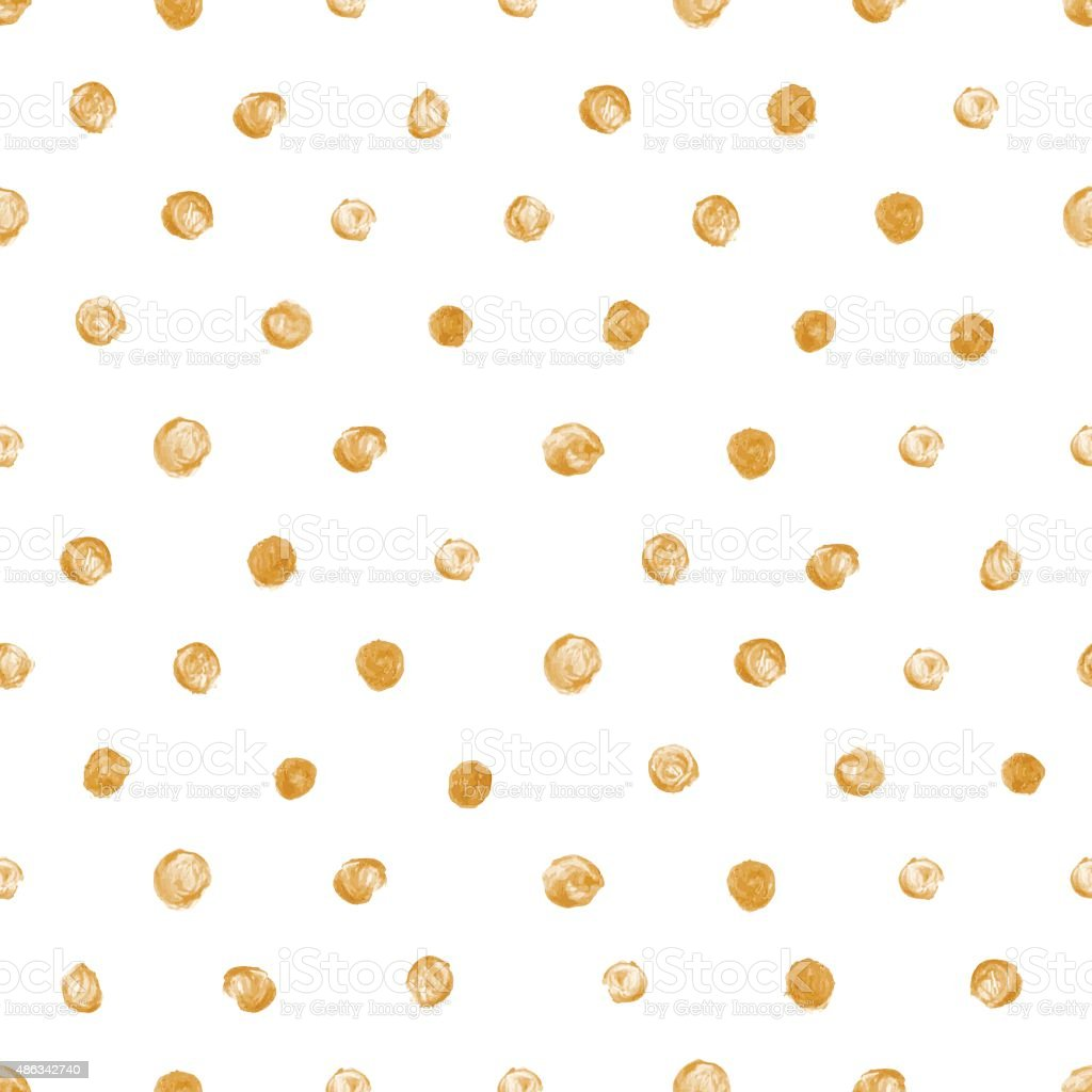 Golden dot seamless pattern. Vector illustration for your design vector art illustration