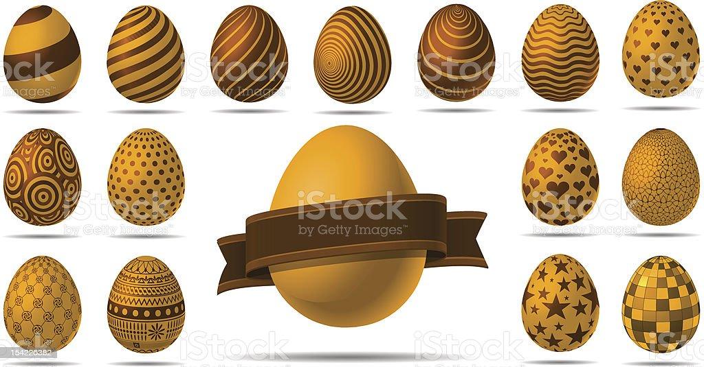 Golden Easter Eggs royalty-free stock vector art
