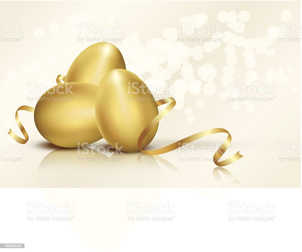 Golden Easter eggs vector illustration royalty-free stock vector art