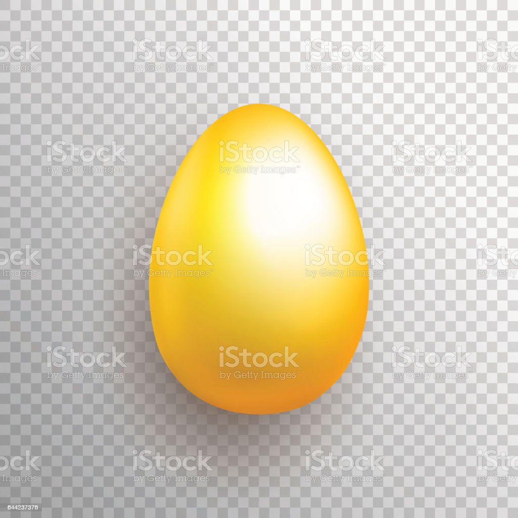 Golden egg illustration vector art illustration