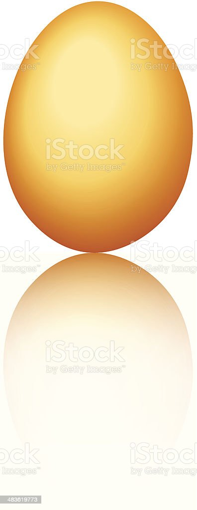 Golden egg. Vector eps-10. vector art illustration