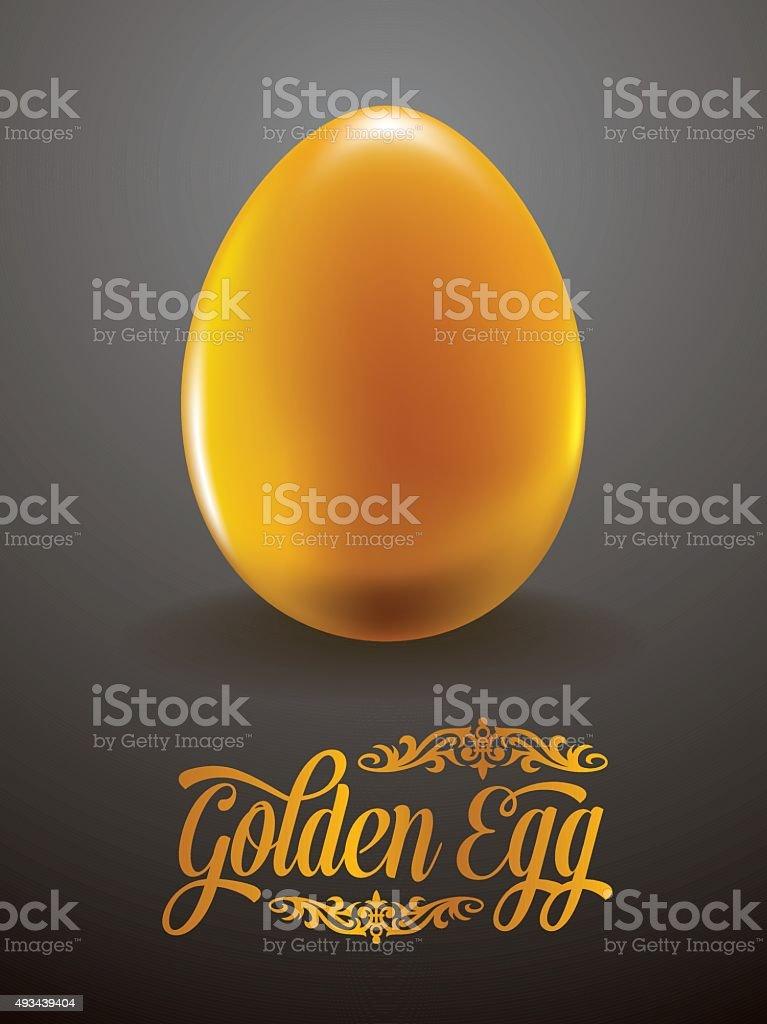 Golden Egg vector art illustration