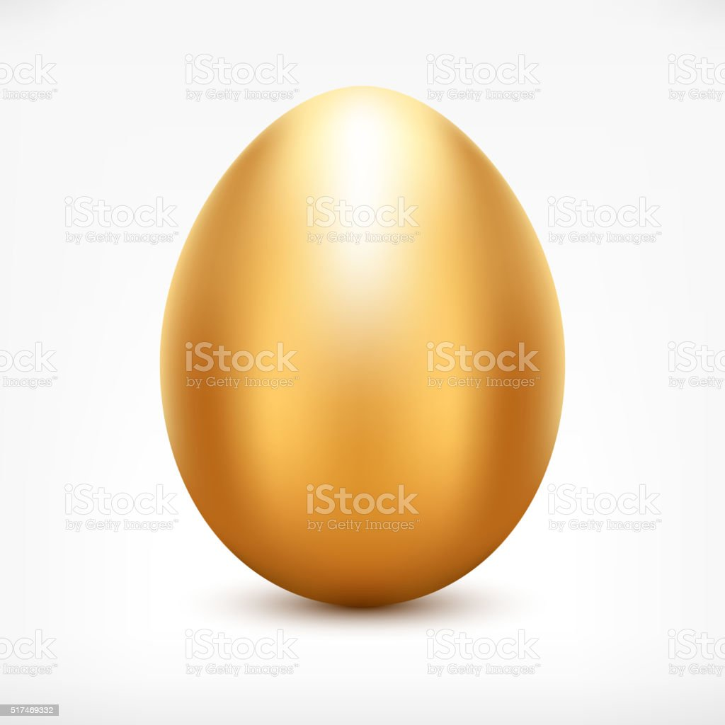 Golden Egg vector art illustration