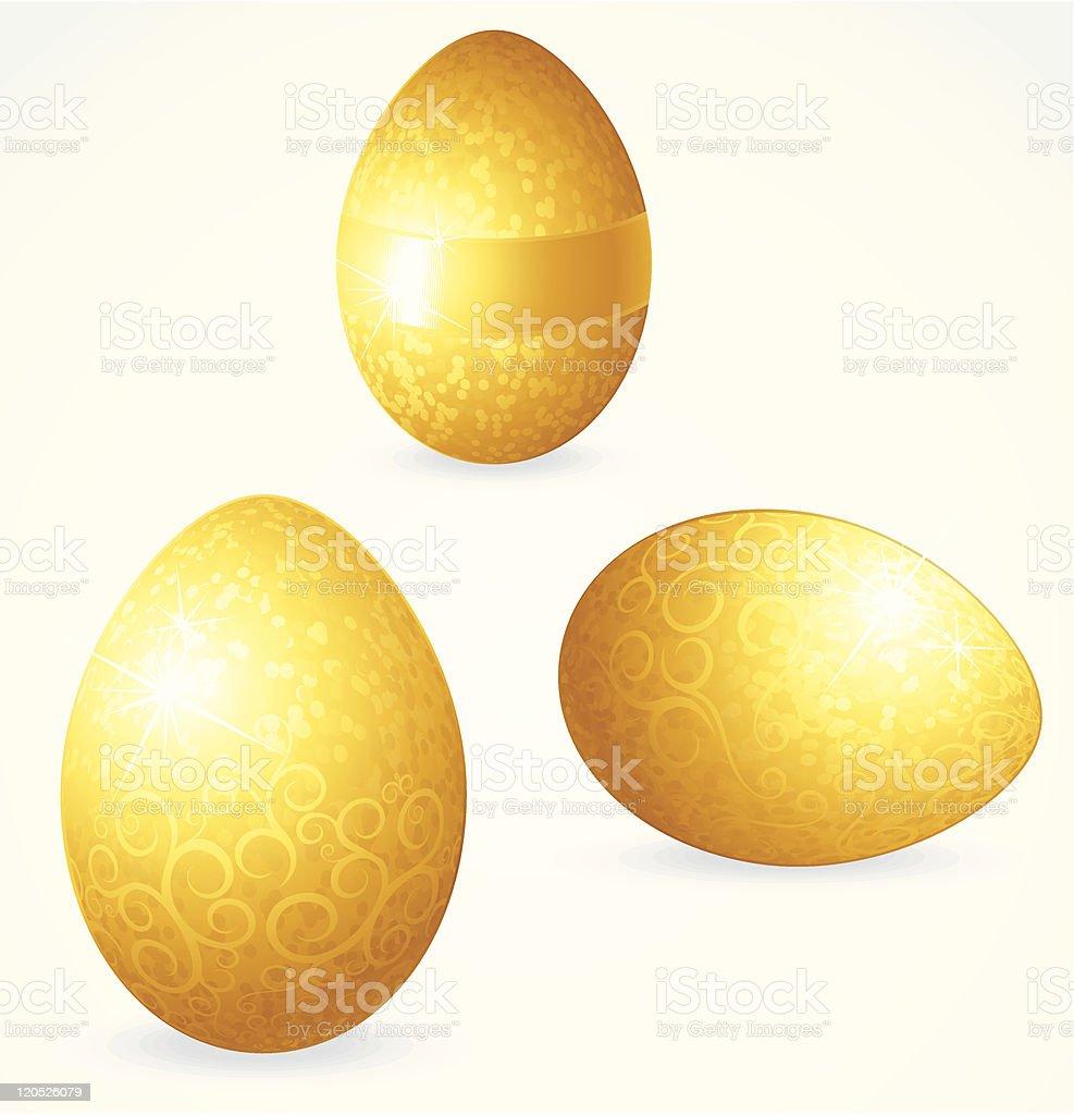 Golden Eggs royalty-free stock vector art