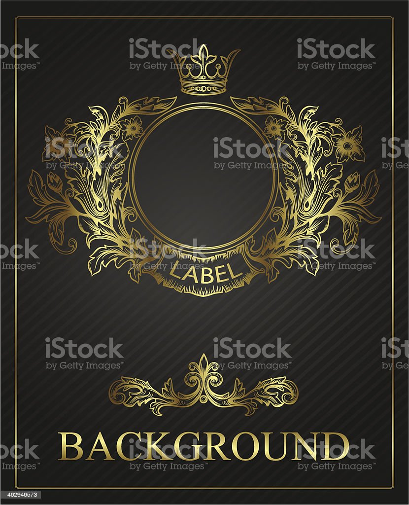 golden emblem cartouche vector art illustration