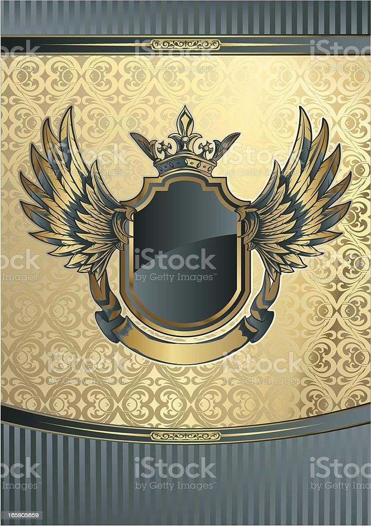 Golden Emblem royalty-free stock vector art