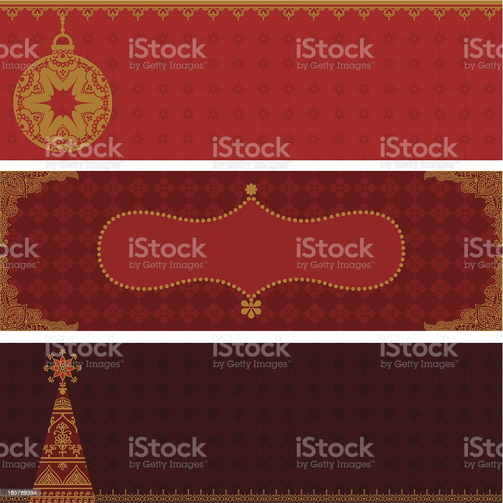 Golden Festive Banners royalty-free stock vector art