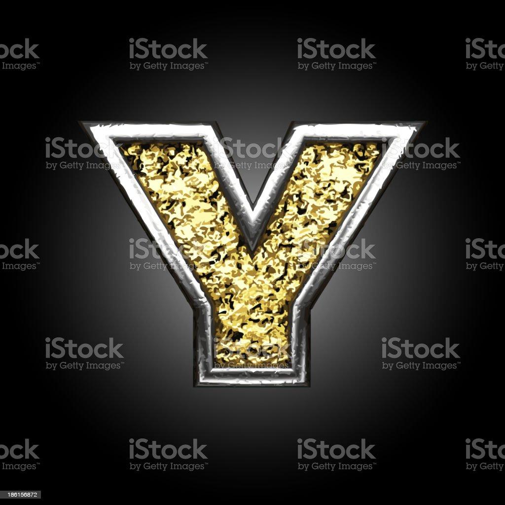 Golden Figure y royalty-free stock vector art