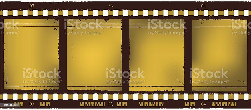 golden film strip vector art illustration