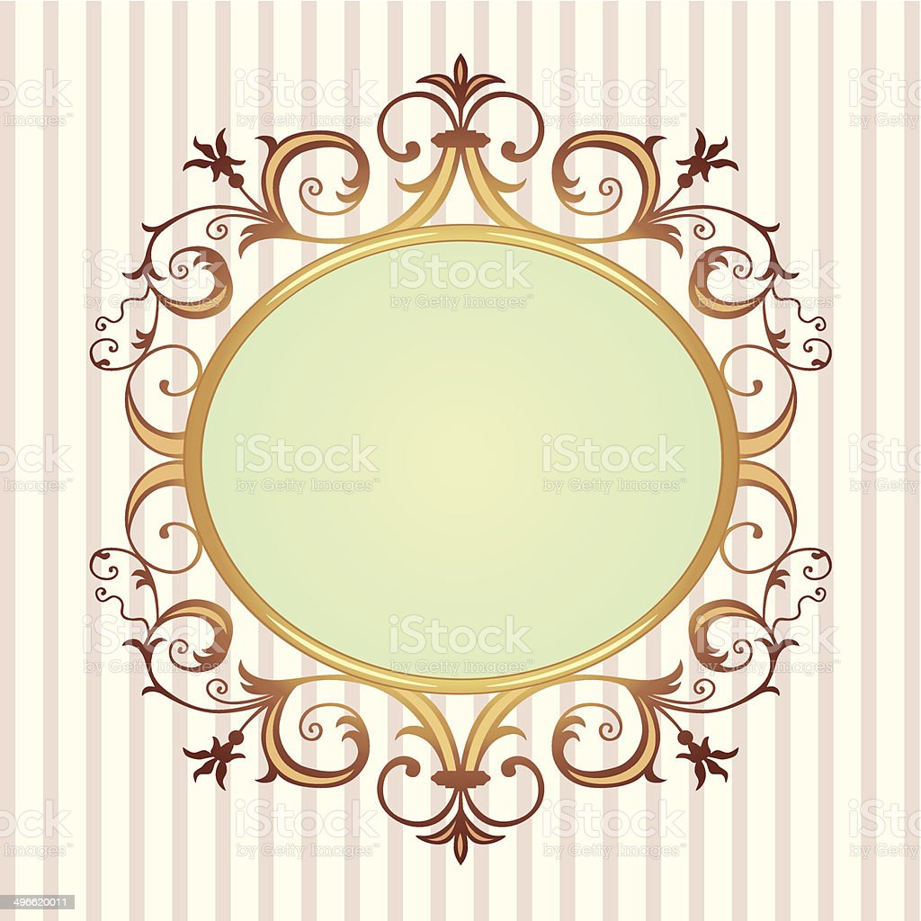 Golden floral frame royalty-free stock vector art