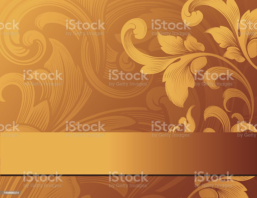Golden Flourish Page royalty-free stock vector art