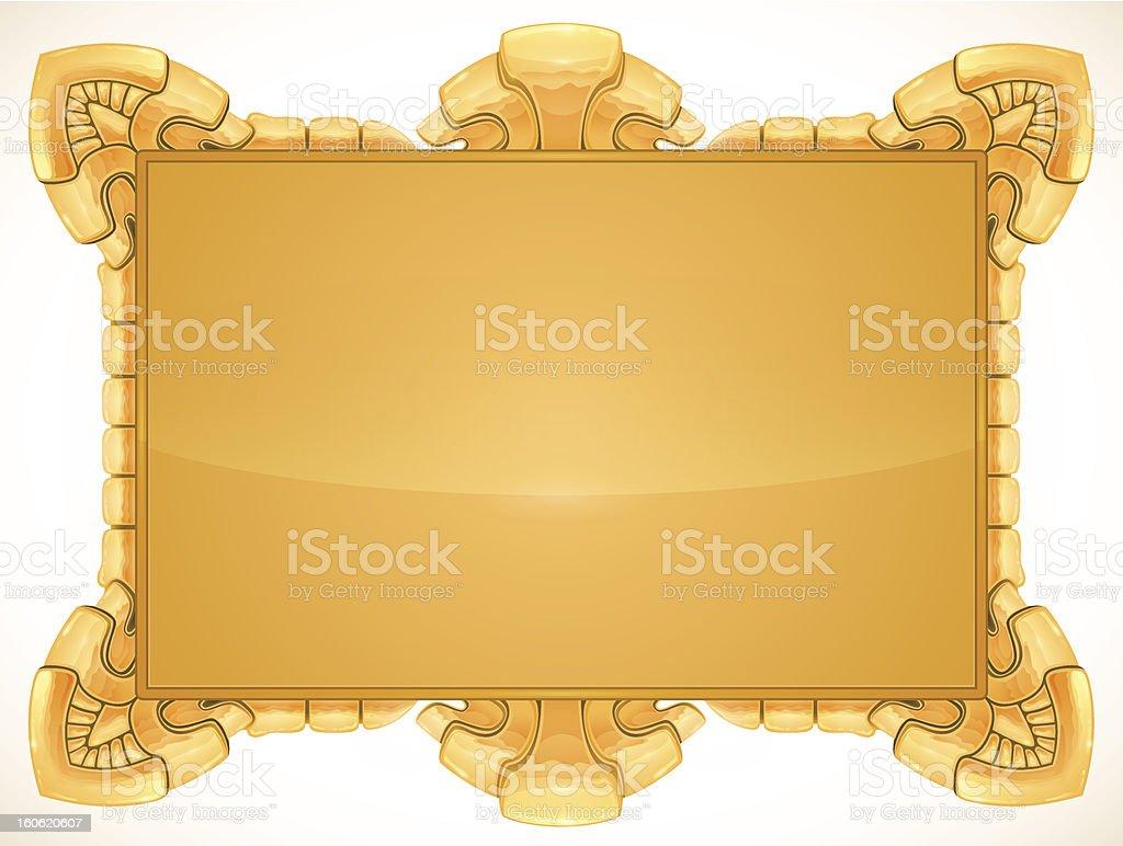 golden frame royalty-free stock vector art