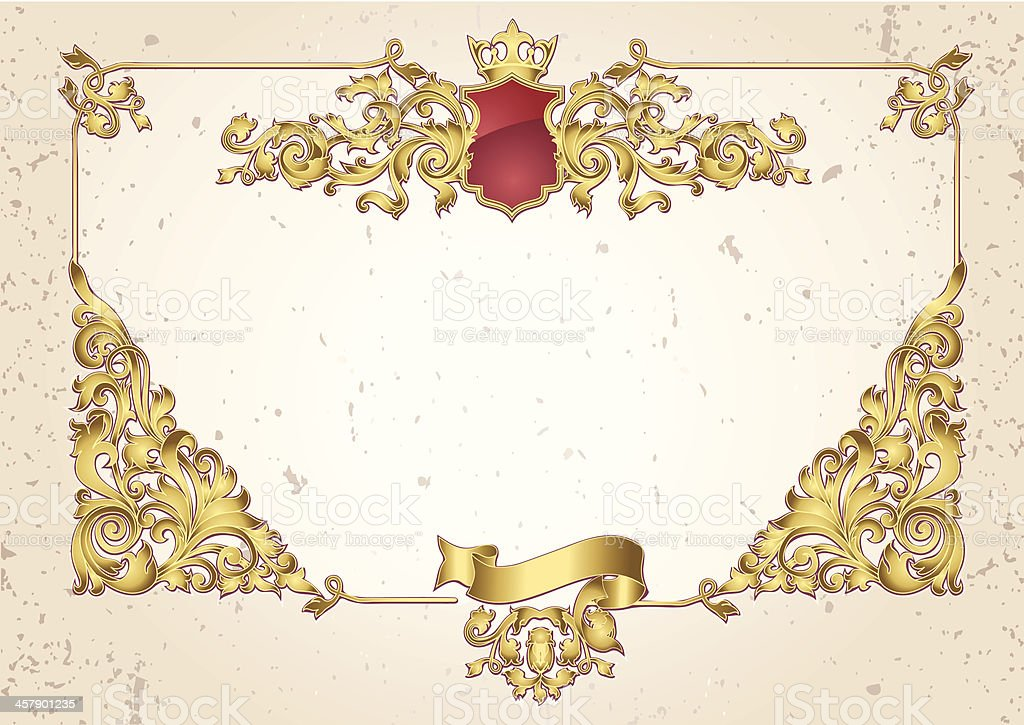 Golden frame royalty-free stock vector art