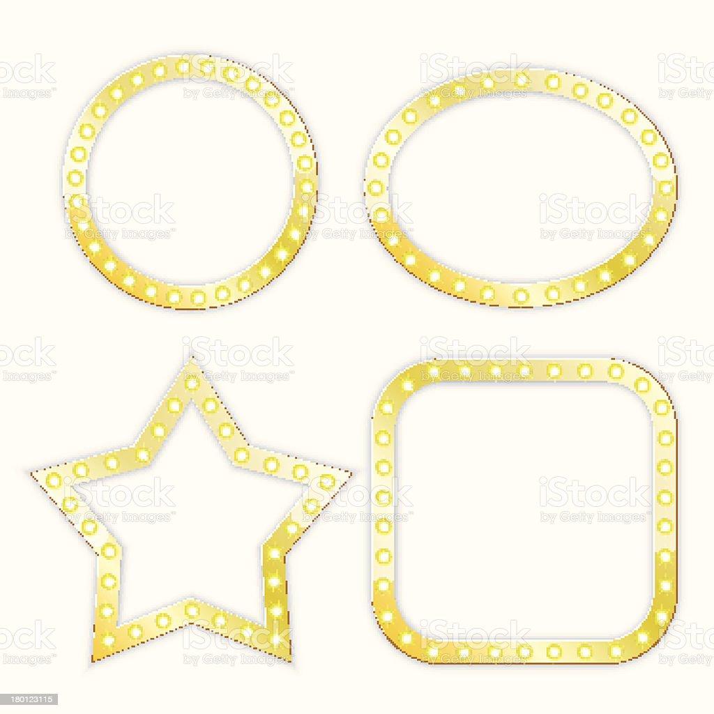 golden frames royalty-free stock vector art