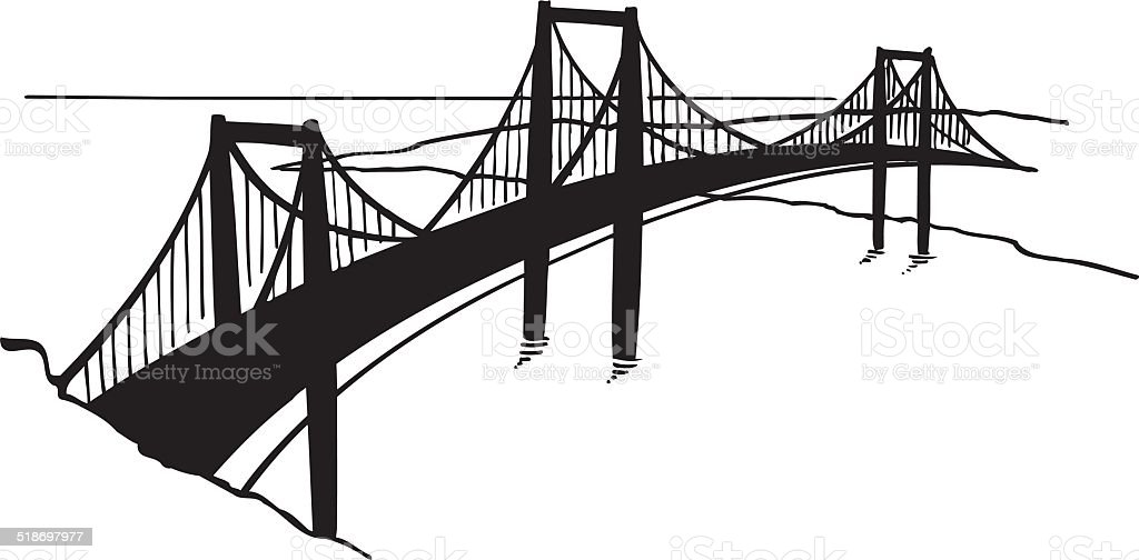 Golden Gate Bridge Vector Clipart vector art illustration