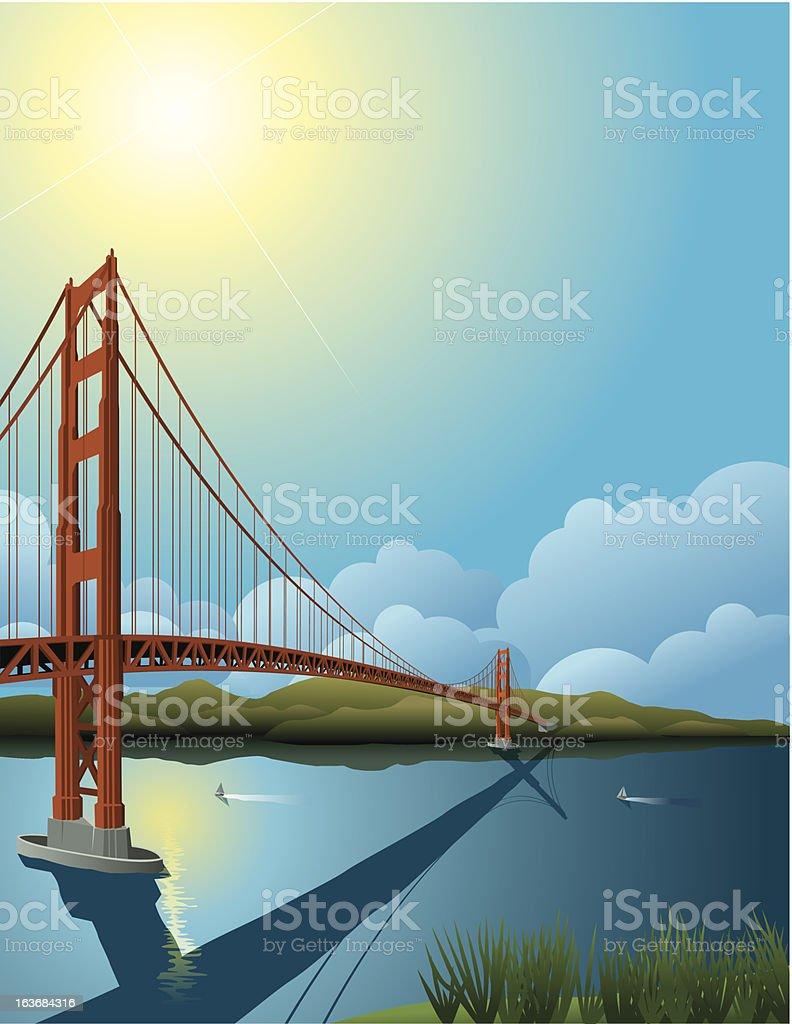 Golden Gate Bridge royalty-free stock vector art