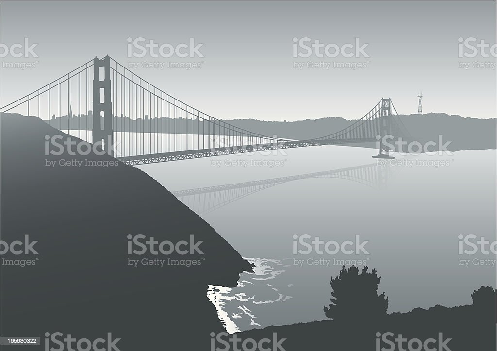 Golden Gate Bridge royalty-free stock vector art