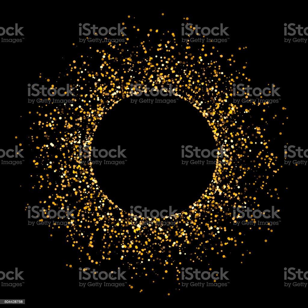 Golden Glitter Background vector art illustration