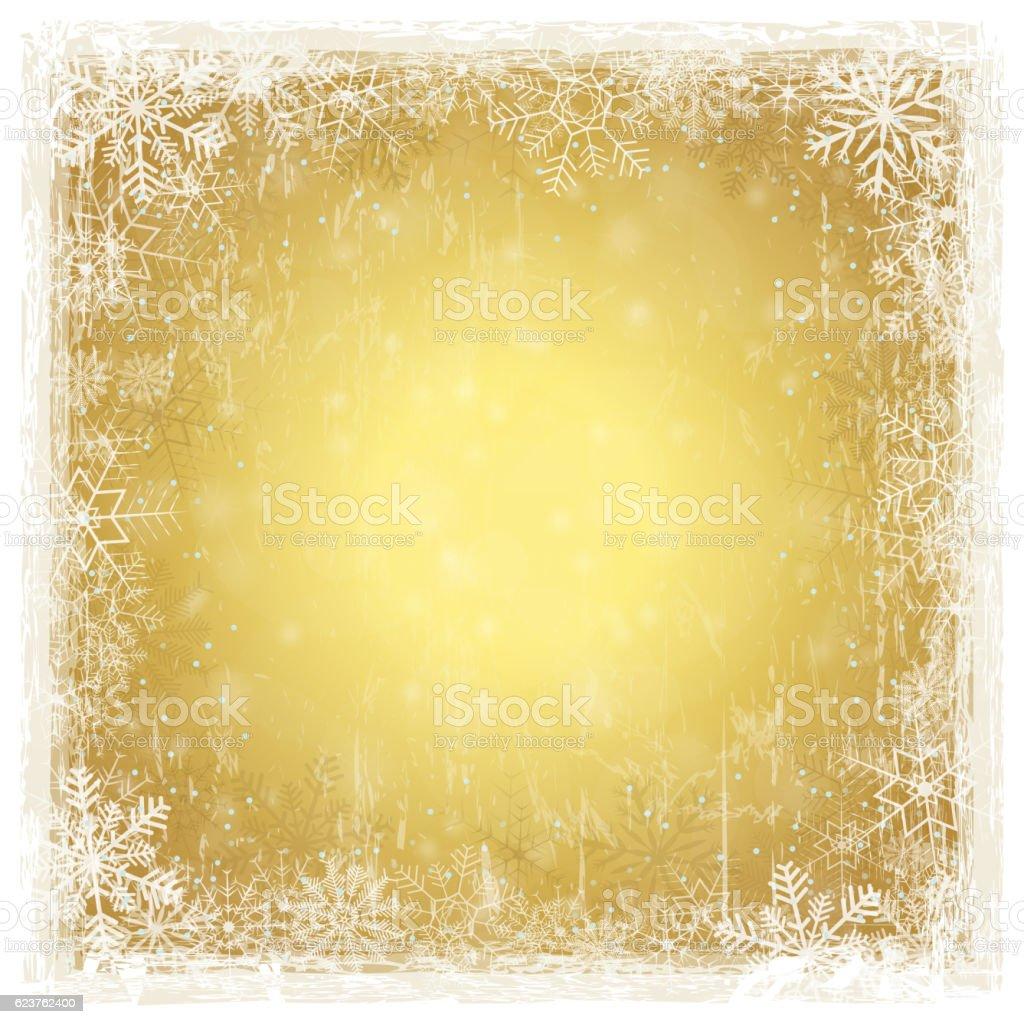 golden grunge christmas background vector art illustration