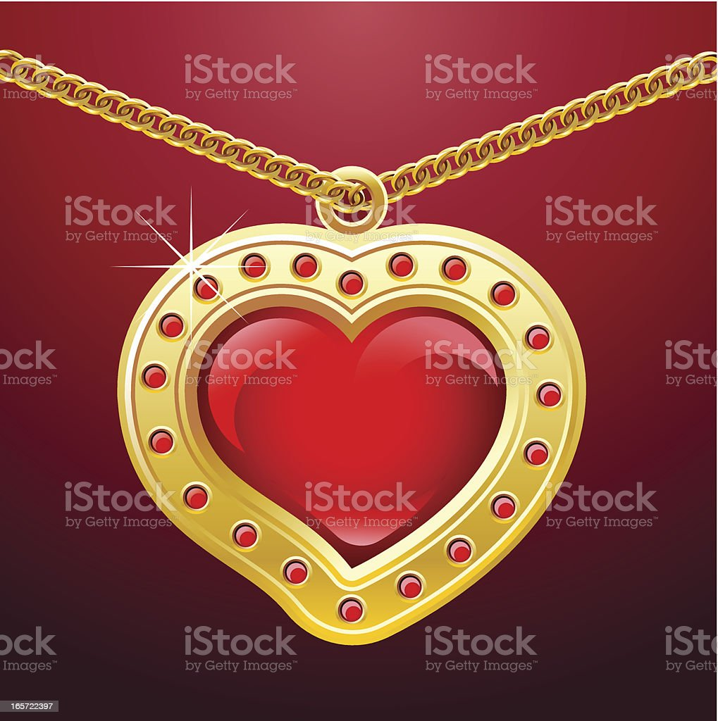 golden heart royalty-free stock vector art