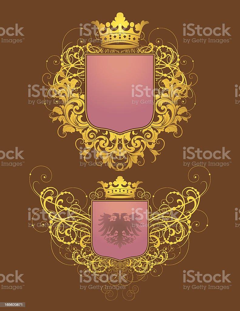 Golden Heraldry royalty-free stock vector art