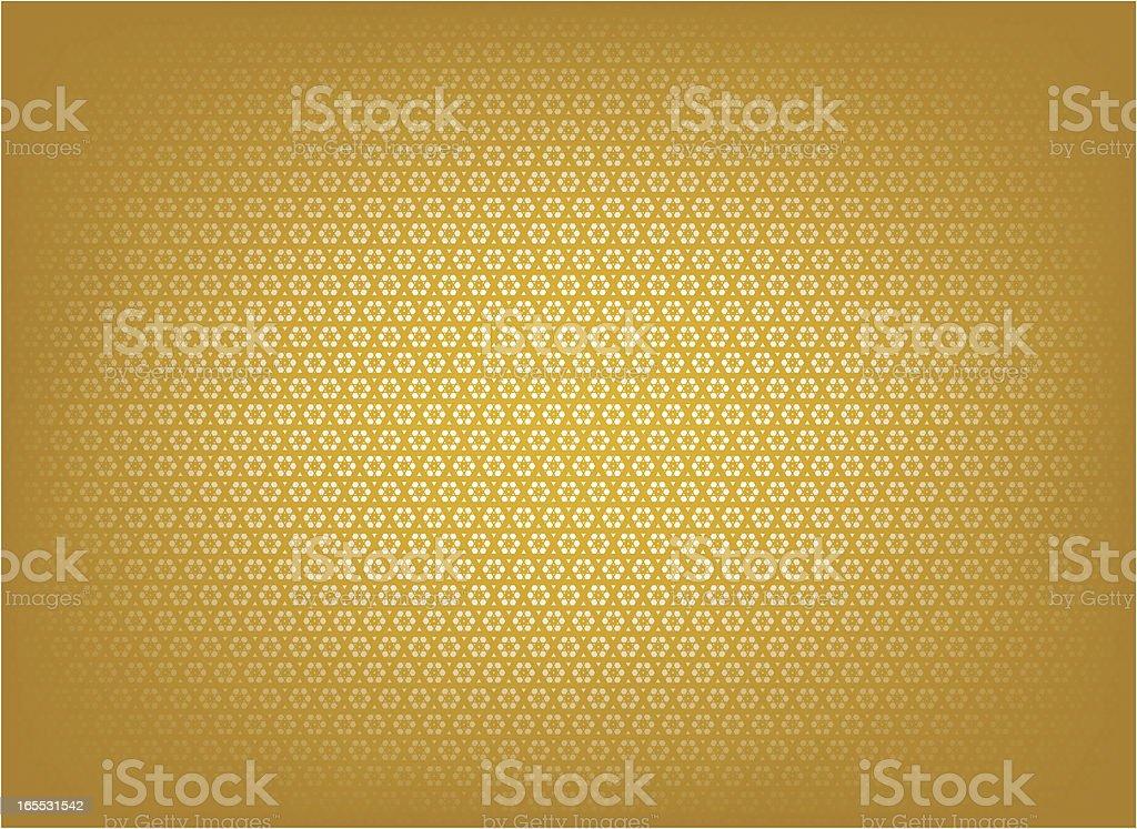 Golden islamic patteen vector art illustration