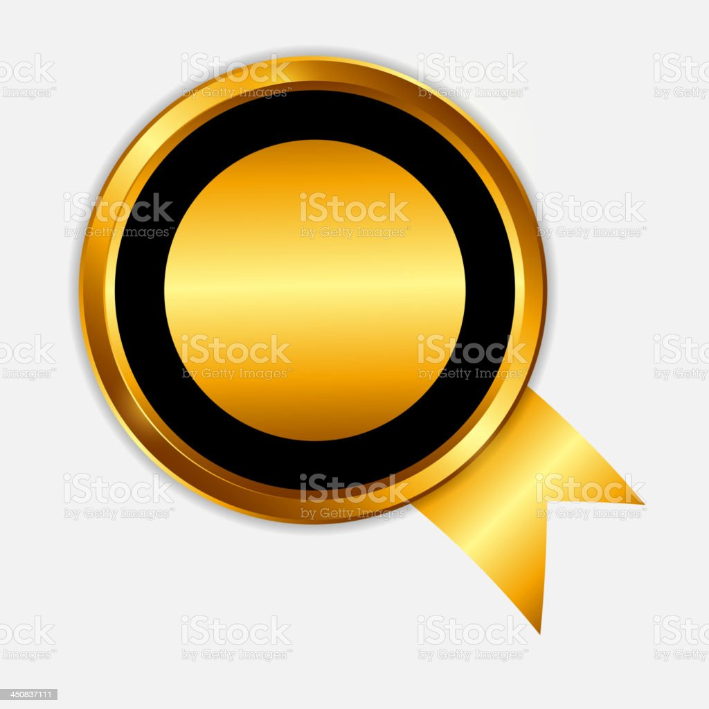 golden label template. vector illustration royalty-free stock vector art