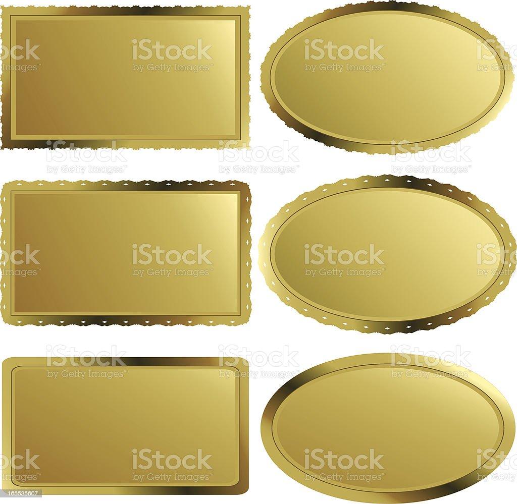 Golden Labels - Nameplates II royalty-free stock vector art