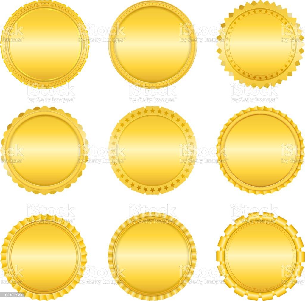 Golden Labels vector art illustration
