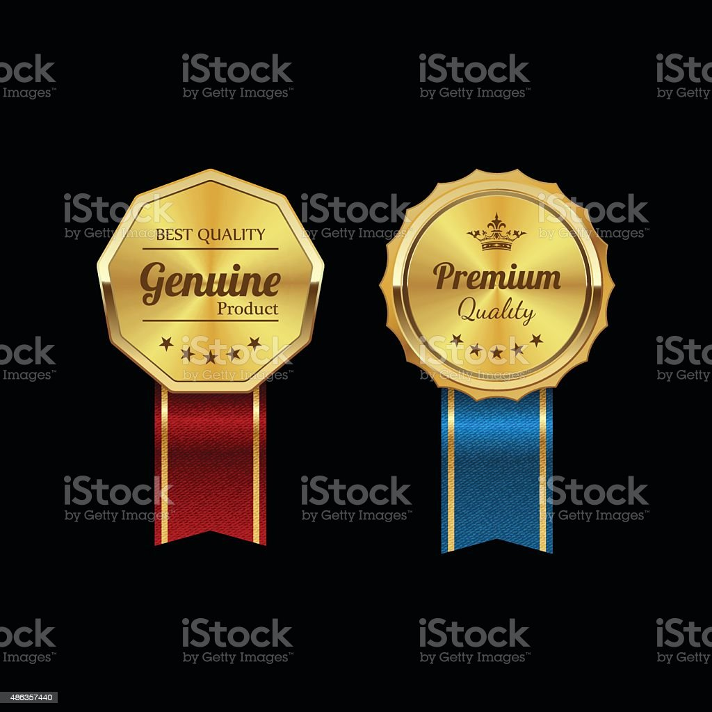 Golden labels.vector vector art illustration