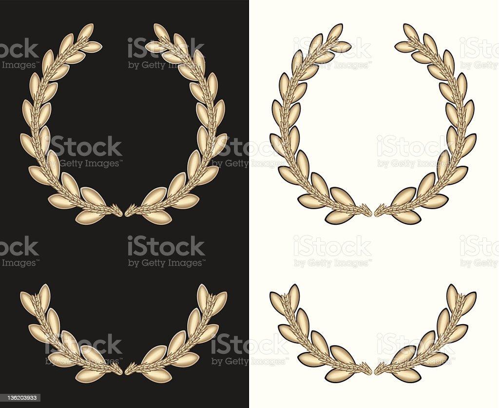 Golden Laurel Wreath stock photo