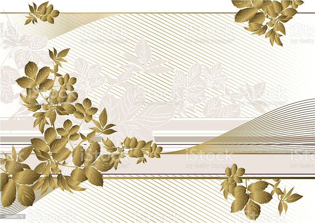 golden leaves royalty-free stock vector art