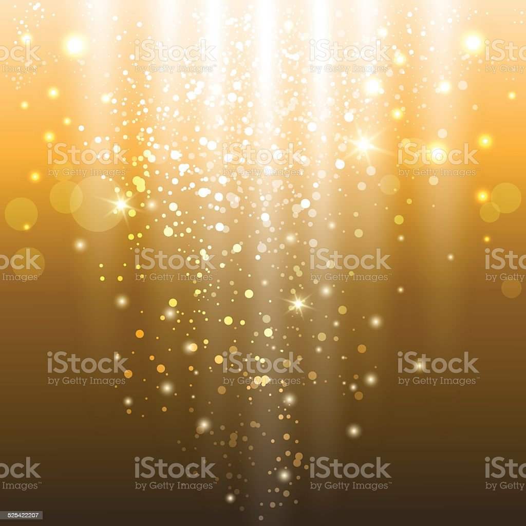 golden lights vector art illustration