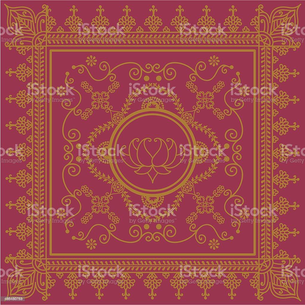 Golden Lotus royalty-free stock vector art