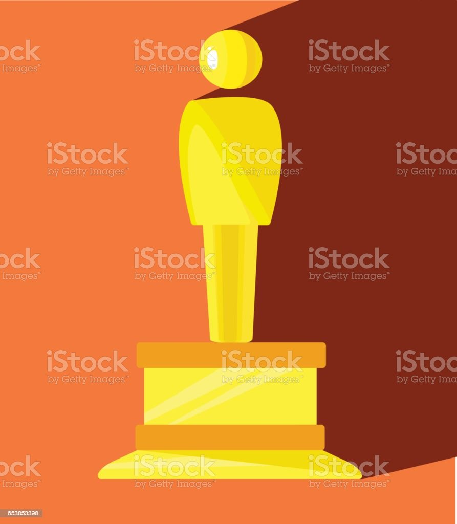 Golden man. Icon. Vector illustration vector art illustration