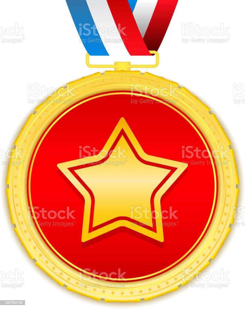 Golden Medal royalty-free stock vector art