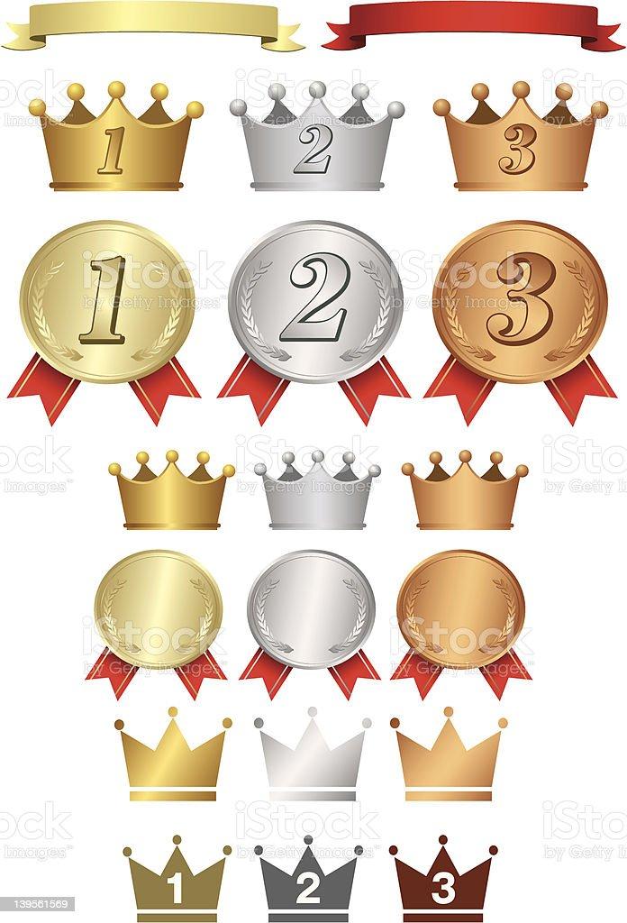 Golden Medals royalty-free stock vector art