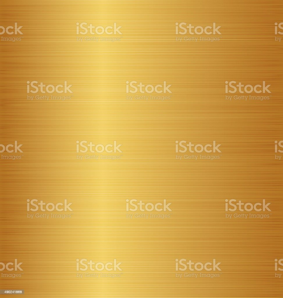 Golden metal texture (copper, brass, bronze) vector art illustration