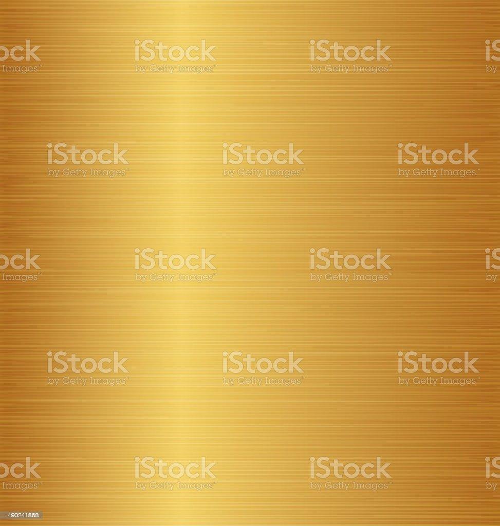 Golden metal texture (copper, brass, bronze) vector art illustration