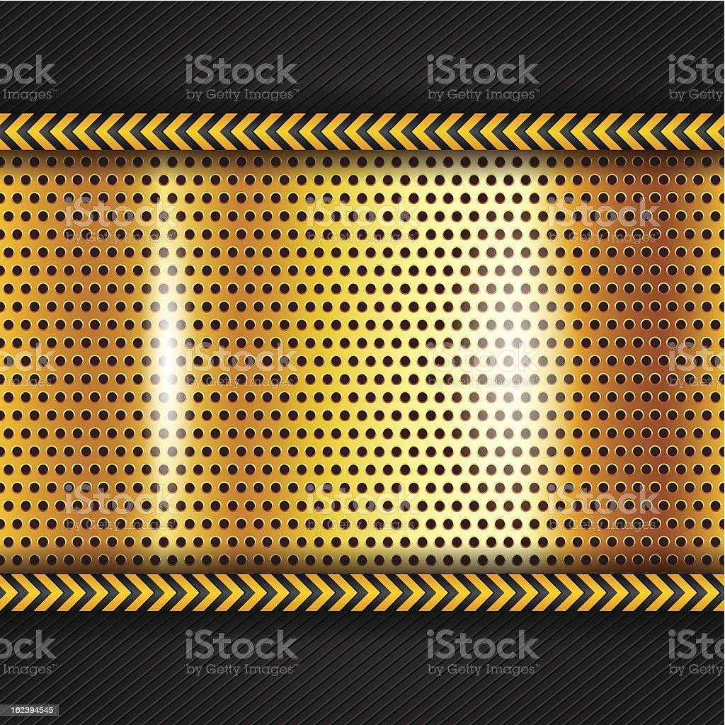 Golden metallic surface royalty-free stock vector art