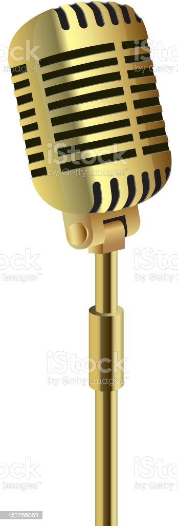 Golden microphone royalty-free stock vector art