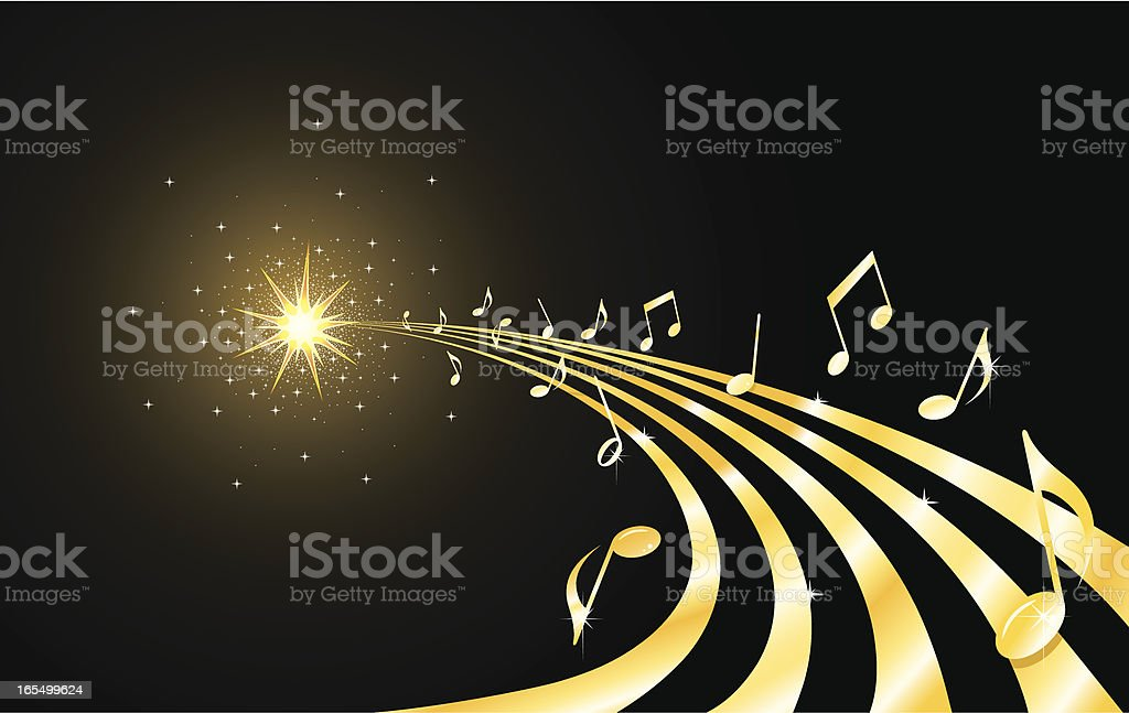 Golden musical flow royalty-free stock vector art