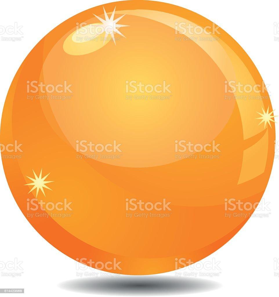 Golden Orb or Sphere vector icon vector art illustration