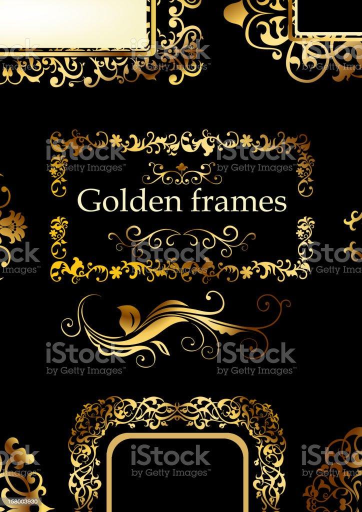Golden patterns royalty-free stock vector art