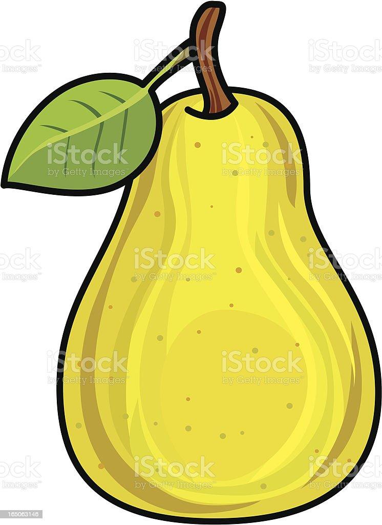 Golden pear vector art illustration